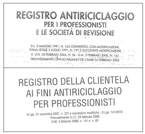 registrao antiriciclaggio professionisti