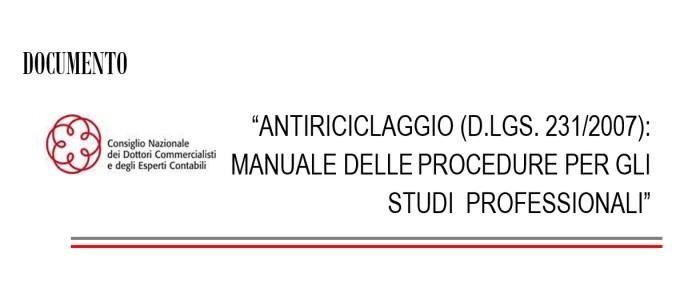 manuale antiriciclaggio